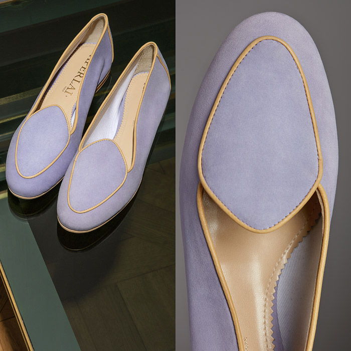 Lilac ballerina shoes