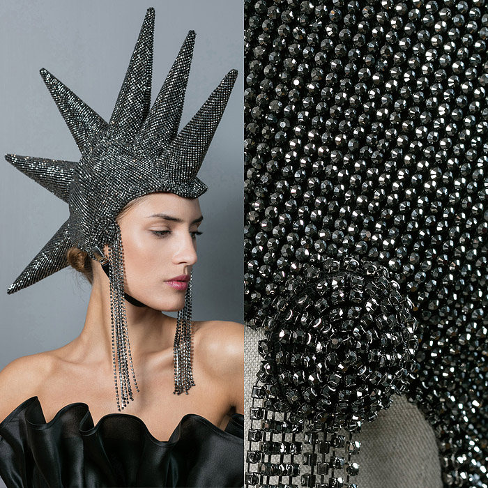 Spiky mohawk inspired headpiece