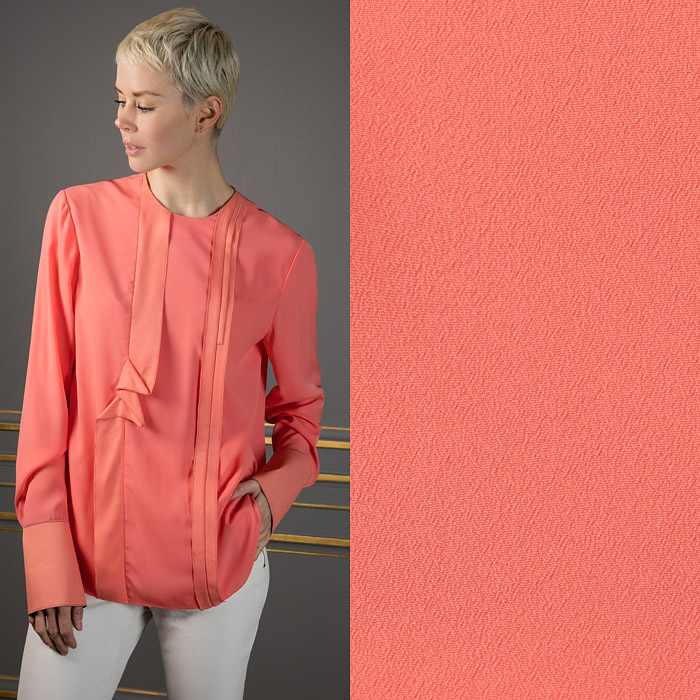 Coral coloured long sleeve top
