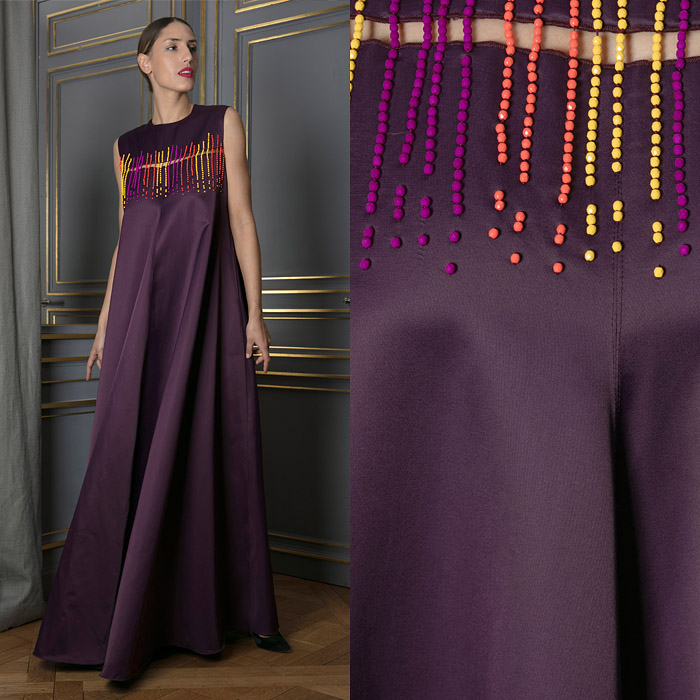 Floor length burgundy shift dress