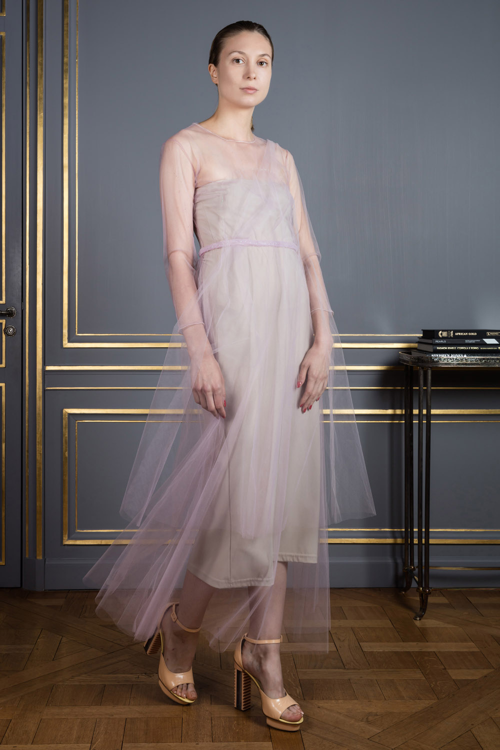 Lightweight tulle light dress